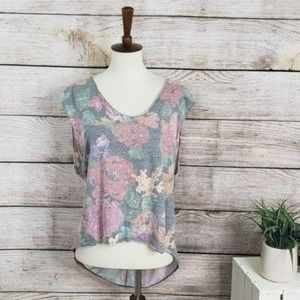 4/$25 UO We The Free Floral HiLo Tank S